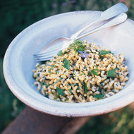 Food & Wine: Fusilli Carbonara with Herbs