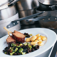 Food & Wine: Siegel's Lamb Chops with Fava Beans and Potato Gnocchi