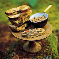Food & Wine: Eggplant Bruschetta With Tomato And Basil