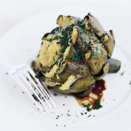 Food & Wine: Falsone's Roasted Artichoke-Stuffed Artichokes