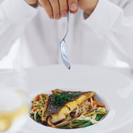 Food & Wine: Yagihashi's Black Sea Bass with Somen and Vegetables