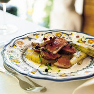 Food & Wine: Grilled Duck Breasts and Endives with Rosemary-Juniper Oil