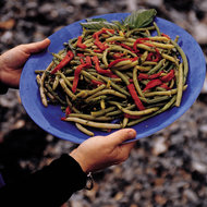 Food & Wine: Basil Green Beans with Roasted Red Peppers