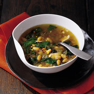 Food & Wine: Garlicky White Bean Soup with Chicken and Chard