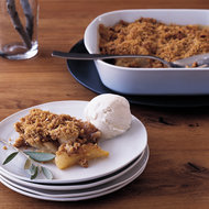 Food & Wine: Pear Crisp with Polenta-Pecan Topping