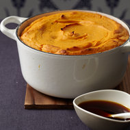 Food & Wine: Sweet Potato Soufflé with Molasses Sauce