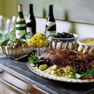 Food & Wine: Standing Pork Roast with Fresh Herbs