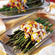 Food & Wine: Chilled Asparagus with Crab Vinaigrette
