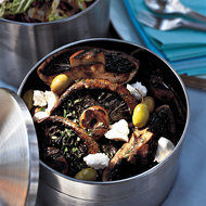 Food & Wine: Marinated Portobellos with Olives and Goat Cheese