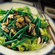 Food & Wine: Mussel and Sea Bean Salad