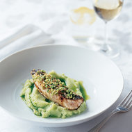 Food & Wine: Sea Bass with Edamame-Rye Crust