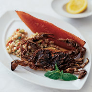Food & Wine: Soft-Shell Crabs with Farro Salad