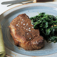 Food & Wine: Spice-Rubbed Steaks with Spinach
