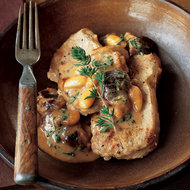 Food & Wine: Veal Medallions with Fig and Almond Cream Sauce