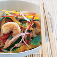 Food & Wine: Asian Shrimp Salad with Snow Peas, Jicama and Bell Peppers