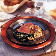 Food & Wine: Grilled Beef Tenderloin with Tuscan Kale and Shallot Confit