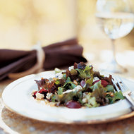 Food & Wine: Oak Leaf Lettuce Salad with Cabrales and Red Grapes
