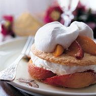 Food & Wine: Roasted Peach Pies with Cream