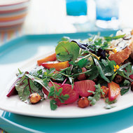 Food & Wine: Summer Greens and Herbs with Roasted Beets and Hazelnuts