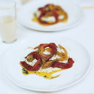 Food & Wine: Herbed Ricotta with Roasted Peppers