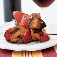 Food & Wine: Curried Chicken and Red Pepper Kebabs