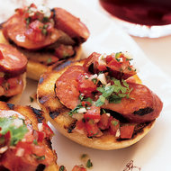 Food & Wine: Grilled Chorizos with Salsa