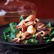 Food & Wine: Spicy Squid Salad with Watercress and Lima Beans