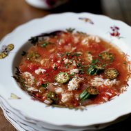 Food & Wine: Gumbo-Style Crab Soup with Okra and Tomatoes