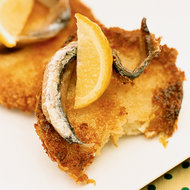 Food & Wine: Fried Green Tomatoes with Anchovy and Lemon