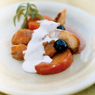 Food & Wine: Roasted Peaches, Nectarines and Cherries with Sabayon