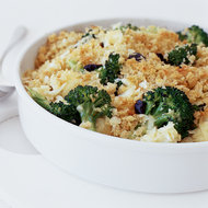 Food & Wine: Broccoli and Cauliflower Gratin with Cheddar Cheese