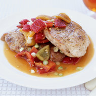 Food & Wine: Pork Scallopine with Spicy Cherry-Pepper Sauce