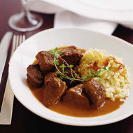 Food & Wine: Beef Stew with Red Currant Jelly and Cream