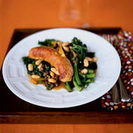 Food & Wine: Garlicky Broccoli Rabe with Sausage and Peppers