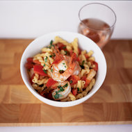 Food & Wine: Gemelli with Shrimp and Green Peppercorns