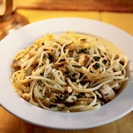 Food & Wine: Midnight Pasta with Tuna, Pancetta and Spinach