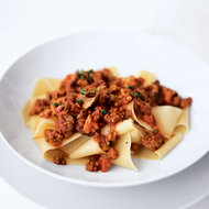 Food & Wine: Pappardelle with Red Wine and Meat Ragù