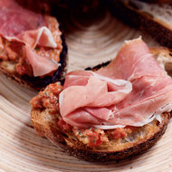 Food & Wine: Prosciutto, Tomato and Olive Bruschetta