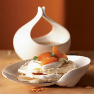 Food & Wine: Apricot Pavlova with Chamomile Cream