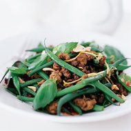 Food & Wine: Turkey and Green Bean Stir-Fry with Peanuts