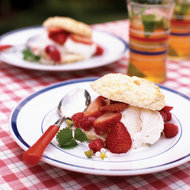 Food & Wine: Gramma's Buttermilk Biscuits with Berries and Ice Cream