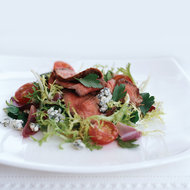 Food & Wine: Grilled Chili-Rubbed Steak Salad with Roasted Shallot Vinaigrette