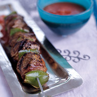 Food & Wine: Grilled Lamb Kebabs with Smoky Tomato Sauce