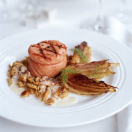Food & Wine: Grilled Salmon with Fennel and Creole Mustard Spaetzle