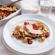 Food & Wine: Lemon Chicken with Potatoes and Tomatoes
