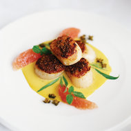 Food & Wine: Spice-Crusted Scallops with Crisp Capers