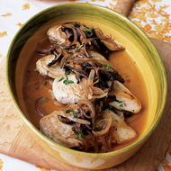 Food & Wine: Chicken Breasts with Red Onions and Thyme