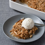 Food & Wine: Apple Crisp with Sweet Ginger and Macadamia Nuts