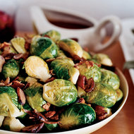 Food & Wine: Brussels Sprouts with Chestnuts and Bacon