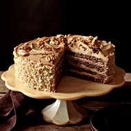 Food & Wine: Rum-Mocha Walnut Layer Cake